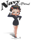 Betty Boop Navy Boop Women's T-Shirt