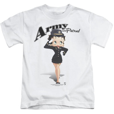 Betty Boop Army Boop Kid's T-Shirt (Ages 4-7)