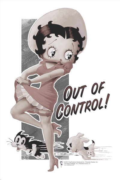 Betty Boop Out Of Control Youth T-Shirt (Ages 8-12)