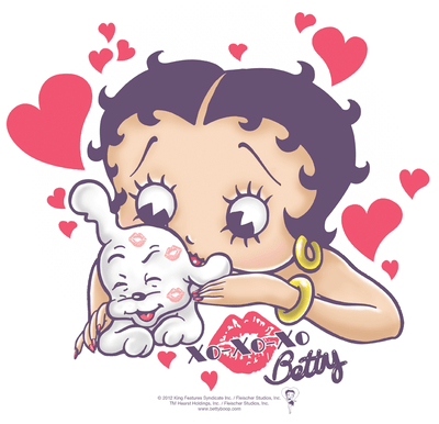 Betty Boop Puppy Love Women's T-Shirt