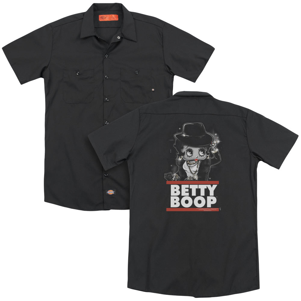 Betty Boop - Bling Bling Boop Adult Work Shirt