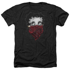 Betty Boop - Bandana & Roses Adult Regular Fit Heather T-Shirt