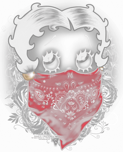 Betty Boop Bandana & Roses Youth T-Shirt (Ages 8-12)