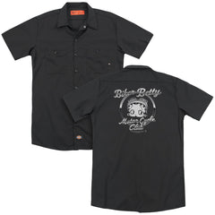 Betty Boop - Chromed Logo Adult Work Shirt