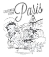 Betty Boop Greetings From Paris Youth T-Shirt (Ages 8-12)