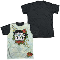 Betty Boop - Sugar Boop Adult Black Back 100% Poly T-Shirt