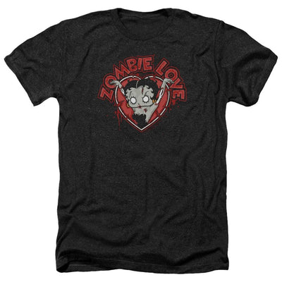 Betty Boop Heart You Forever Men's Heather T-Shirt