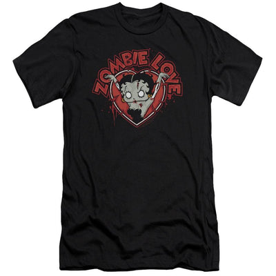 Betty Boop Heart You Forever Men's Slim Fit T-Shirt