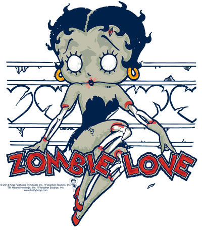 Betty Boop Zombie Pinup Youth T-Shirt (Ages 8-12)