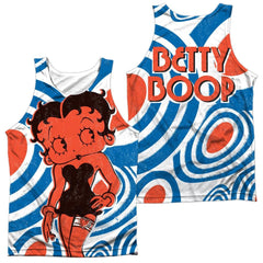 Betty Boop Mod Rings Adult Tank Top