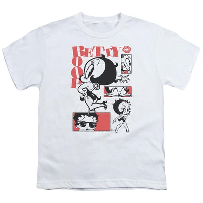 Betty Boop Stylin Snaps Youth T-Shirt (Ages 8-12)