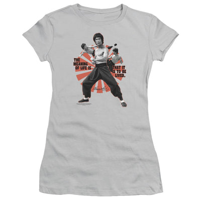 Bruce Lee Meaning Of Life Juniors T-Shirt