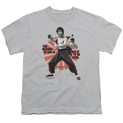 Bruce Lee Meaning Of Life Youth T-Shirt (Ages 8-12)