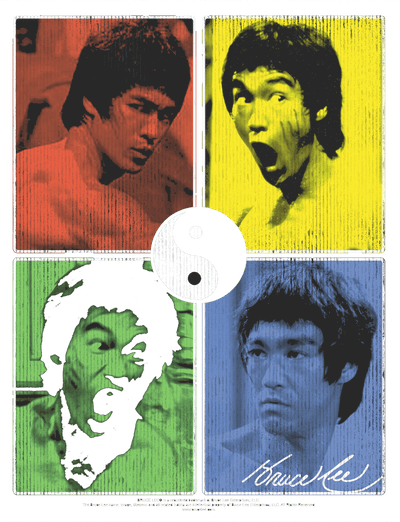 Bruce Lee Enter Color Block Juniors T-Shirt