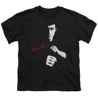 Bruce Lee The Dragon Awaits Youth T-Shirt (Ages 8-12)