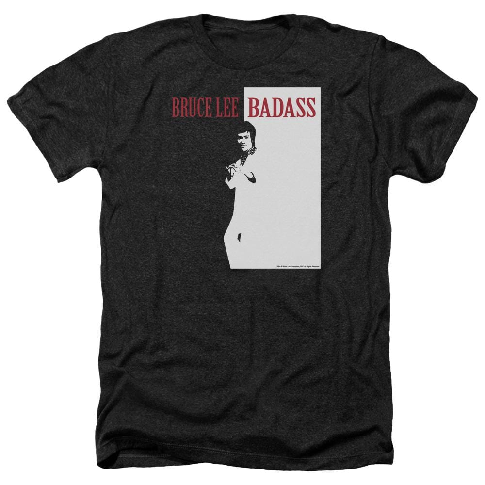 Bruce Lee - Badass Adult Regular Fit Heather T-Shirt