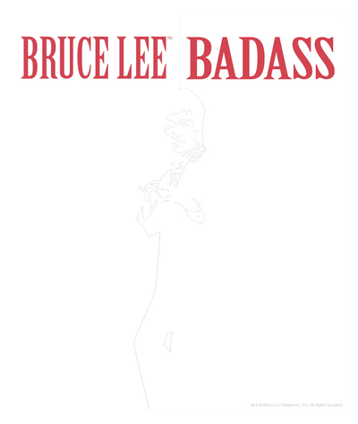 Bruce Lee Badass Men's Heather T-Shirt
