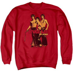Bruce Lee - Nunchucks Adult Crewneck Sweatshirt