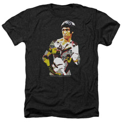 Bruce Lee - Body Of Action Adult Regular Fit Heather T-Shirt