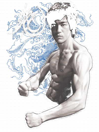 Bruce Lee Dragon Stance Men's Long Sleeve T-Shirt