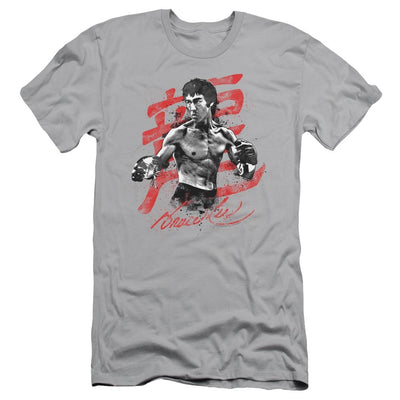Bruce Lee Ink Splatter Men's Slim Fit T-Shirt