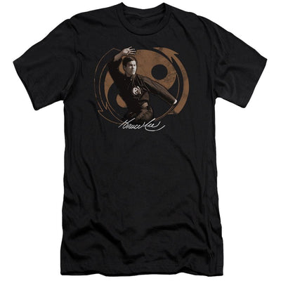 Bruce Lee Jeet Kun Do Pose Men's Slim Fit T-Shirt