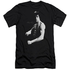 Bruce Lee Stance Premium Adult Slim Fit T-Shirt