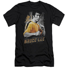 Bruce Lee Yellow Dragon Premium Adult Slim Fit T-Shirt