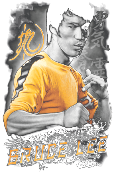 Bruce Lee Yellow Dragon Men's Premium Slim Fit T-Shirt