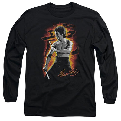 Bruce Lee Dragon Fire Men's Long Sleeve T-Shirt