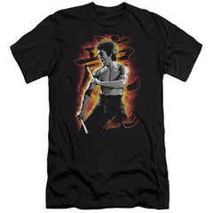 Bruce Lee Dragon Fire Premium Adult Slim Fit T-Shirt