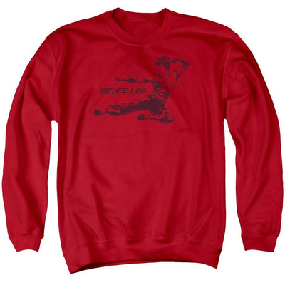 Bruce Lee Line Kick Men's Crewneck Sweatshirt