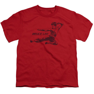 Bruce Lee Line Kick Youth T-Shirt (Ages 8-12)