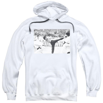 Bruce Lee Kick To The Head Pullover Hoodie
