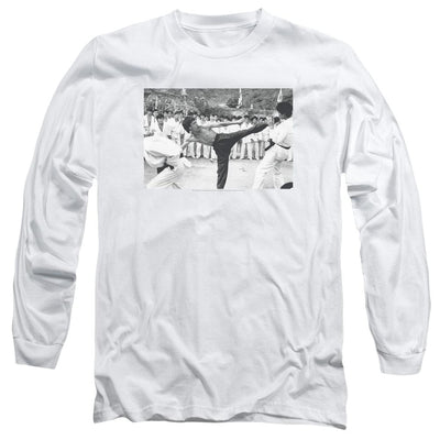 Bruce Lee Kick To The Head Men's Long Sleeve T-Shirt