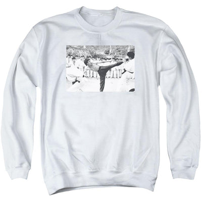 Bruce Lee Kick To The Head Men's Crewneck Sweatshirt