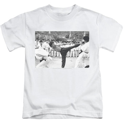 Bruce Lee Kick To The Head Kid's T-Shirt (Ages 4-7)
