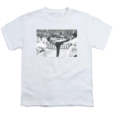 Bruce Lee Kick To The Head Youth T-Shirt (Ages 8-12)