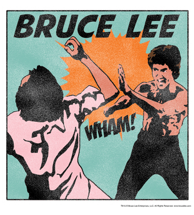 Bruce Lee Comic Panel Men's Heather T-Shirt