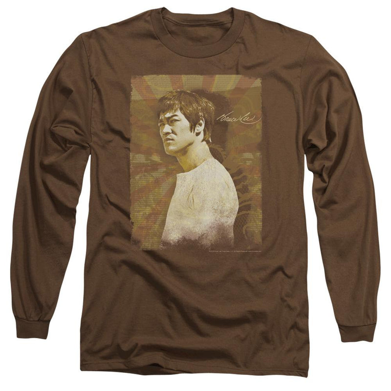 Bruce Lee Enter Color Block Youth Long Sleeve T Shirt