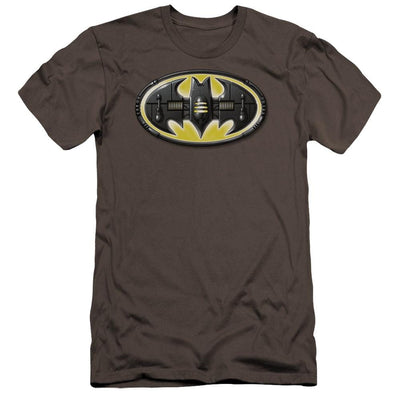 Batman Bat Mech Logo Men's Premium Slim Fit T-Shirt