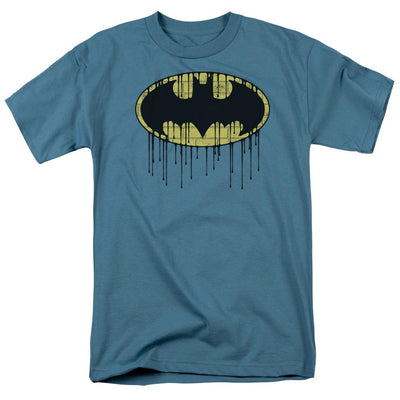 Batman Dripping Brick Wall Shield Men's Regular Fit T-Shirt