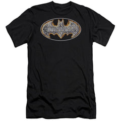 Batman Steel Fire Shield Premium Adult Slim Fit T-Shirt