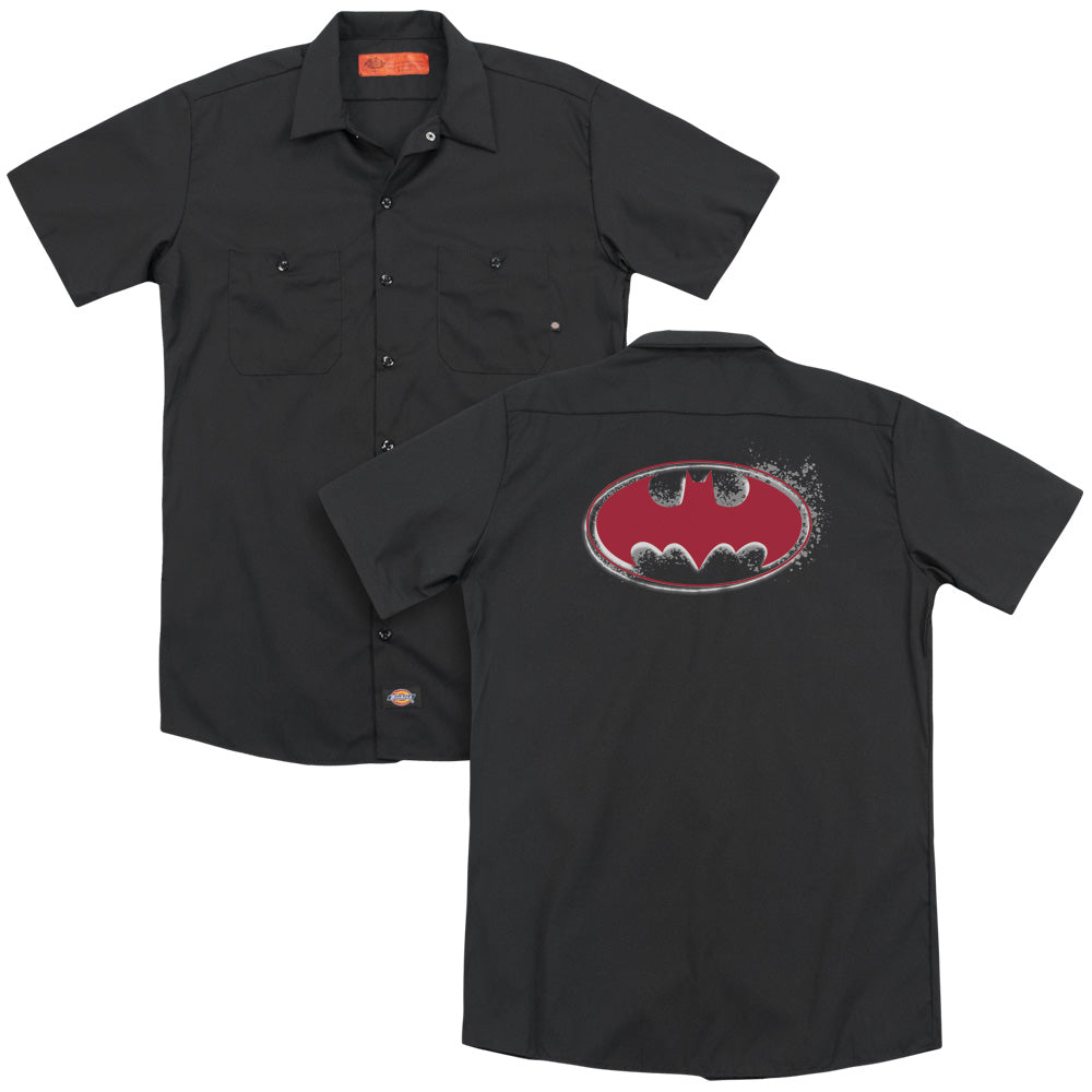 Batman - Hardcore Noir Bat Logo Adult Work Shirt