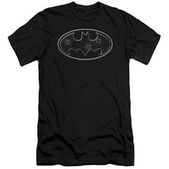 Batman Glass Hole Logo Premium Adult Slim Fit T-Shirt