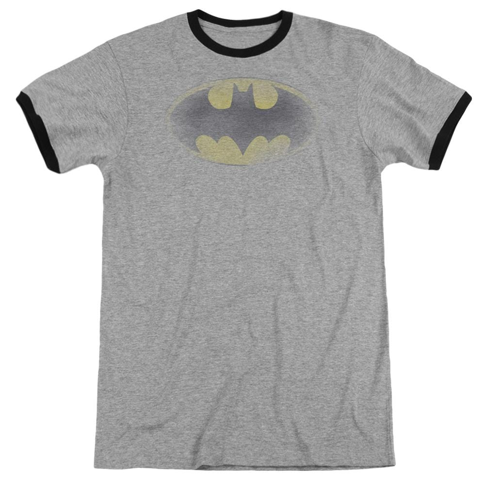 Batman Faded Logo Men's Ringer T-Shirt
