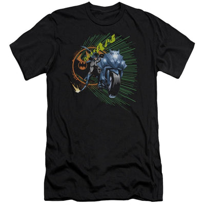 Batman Batcycle Men's Premium Slim Fit T-Shirt