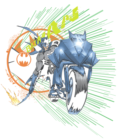 Batman Batcycle Men's Heather T-Shirt