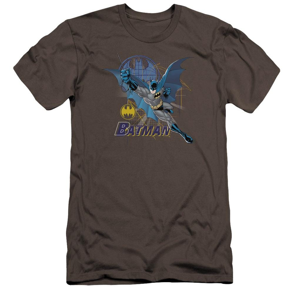 Batman Cape Outstretched Premium Adult Slim Fit T-Shirt