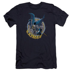 Batman In The Crosshairs Premium Adult Slim Fit T-Shirt